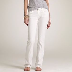 J. Crew White Bootcut Jeans SHORT